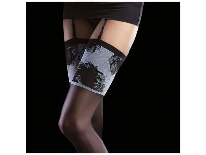 Belt stockings 20 den matt with Fiore lace - 2