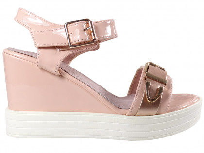 Pink sandals on eco leather anchors - 1