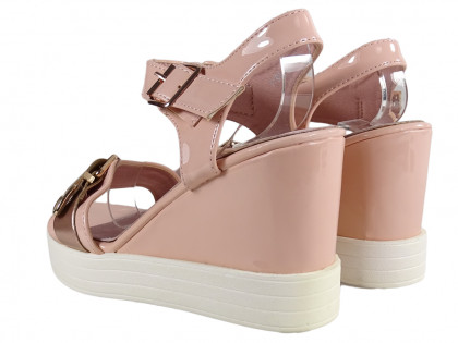 Pink sandals on eco leather anchors - 2