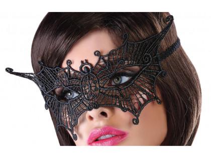 Czarna maska damska bielizna erotyczna