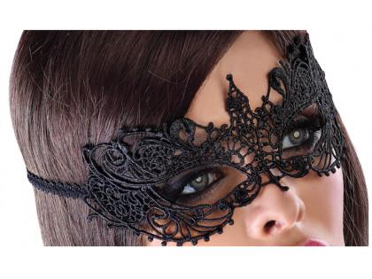 Czarna maska damska na oczy erotyczna