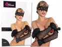 Black lace long women's gloves - 3