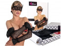 Black lace long women's gloves - 4