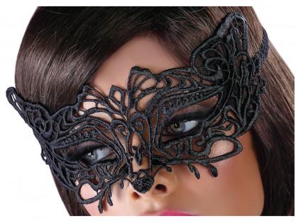 Maska na oczy czarna koronkowa erotyczna bielizna