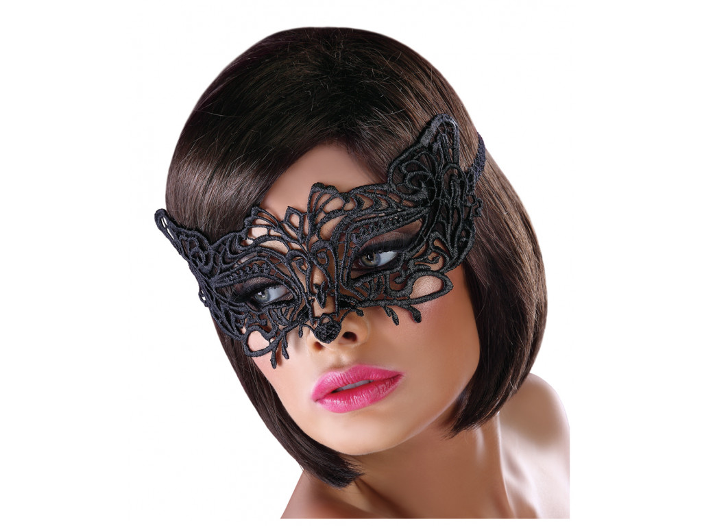 Eye mask black lace erotic underwear - 1