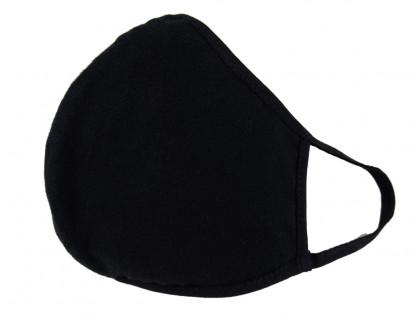 Schwarze zweilagige Baumwollmaske - 2