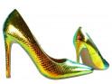 Goldene Anstecknadeln für schillerndes Ökoleder für Frauen - 3