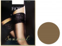 Smooth self-supporting stockings with Fiore lace 20 den - 3
