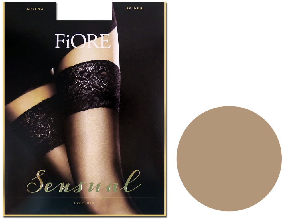 Smooth self-supporting stockings with Fiore lace 20 den - 10