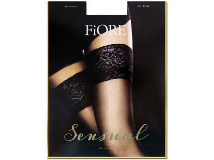 Smooth self-supporting stockings with Fiore lace 20 den - 1