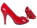 Niedrige rote Damen-Pins mit offener Spitze - 3