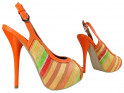 Colourful sandals on the platform with an open toe - 3