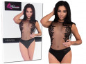 Black body ladies' erotic lingerie with lace - 6