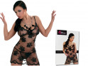 black mesh with lace erotic nightdress - 4