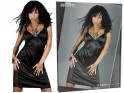 Black satin nightdress with lace - 6