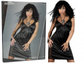 Black satin nightdress with lace - 4