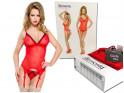 Red corset with garter belts erotic underwear - 6