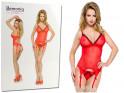 Red corset with garter belts erotic underwear - 3