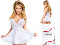 White transparent women's T-shirt with thong lace - 4