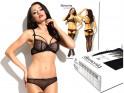 Lace black lingerie set erotic panties bra - 6