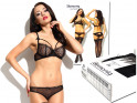 Lace black lingerie set erotic panties bra - 6