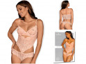 Pink lace ladies' bodies Obsessive - 3