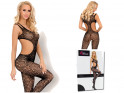 Black bodystocking erotic underwear
