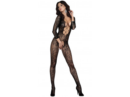 Black bodystocking ladies' erotic underwear