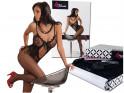 Schwarzer Bodystocking-Damenunterwäsche Erotik-Kabarett - 1