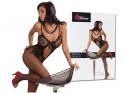 Schwarzer Bodystocking-Damenunterwäsche Erotik-Kabarett - 3