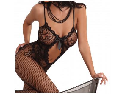 Fekete bodystocking fehérnemű nők erotikus necc - 2