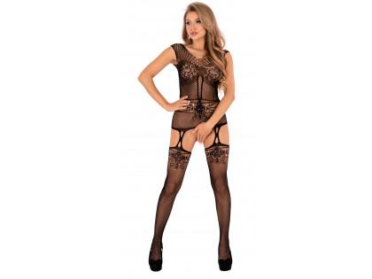 Black bodystocking ladies' erotic underwear - 1