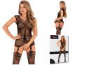 Schwarze erotische Damenunterwäsche mit Bodystocking - 4