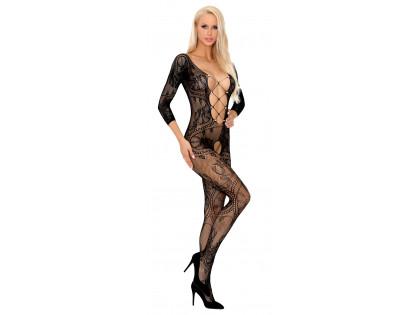 Fekete erotikus női bodystocking fehérnemű - 1