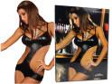 Schwarz ausgeschnittene Frauenkörper wie LivCo Corsetti-Leder - 3