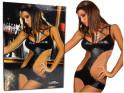 Schwarz ausgeschnittene Frauenkörper wie LivCo Corsetti-Leder - 6