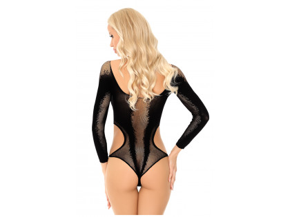 Black elastic body underwear erotic