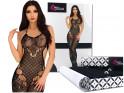 Black bodystocking elastic lingerie