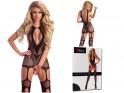 Erotische Dessous schwarzer Damen-Bodystocking - 4