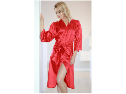 Gown dressing gown peniuar satin red