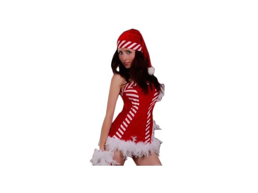 Weiße und rote Weihnachtsmannkostümverkleidung - 1