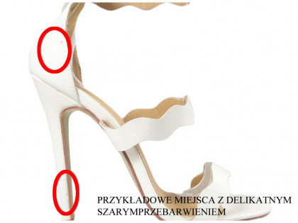 Outlet weiße High Heels Damen Sandalen Hochzeitsschuhe - 2