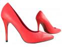 Klassische mattrote High Heels - 3