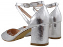 Silver low female shuttles with ankle strap - 2