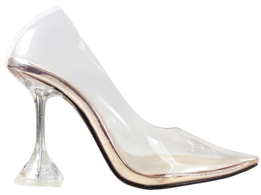 Women's transparent pins Transparent boots - 1