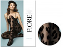 Black patterned pantyhose with 30 den GLAM ROCK - 3