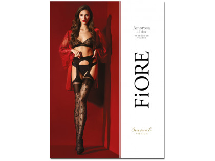 High quality 30den flower waist stockings - 1
