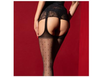 Pończochy z paskiem w kropki garter stocking - 2