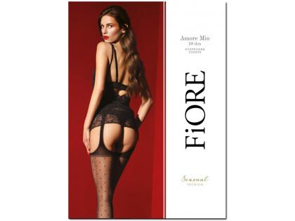 Dotted garter stocking stockings - 1