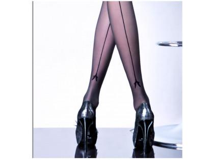 Glatte Damenstrumpfhose mit 20 den MIRIAM-Naht - 2